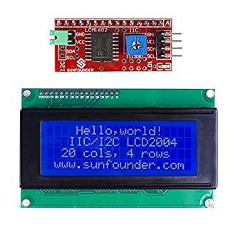 SunFounder IIC I2C TWI Serial 2004 20x4 LCD Module Shield for Arduino Uno Mega2560 SunFounder Mega 2560 Case Gehäuse Hülle Enclosure Transparent Gloss Acrylic Computer Box Compatible with Arduino Mega 2560 Rev3 R3, Genuino Mega 2560 Rev3 and other Arduino Compatible Mega (MEHRWEG)