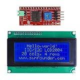 SunFounder IIC I2C TWI Serial 2004 20x4 LCD Module Shield for Arduino Uno Mega2560 (IIC2004)