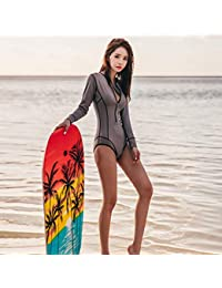 04f77103d Tianya Traje de surf Mujeres sexy Manga larga Traje de baño de buceo Traje  de playa
