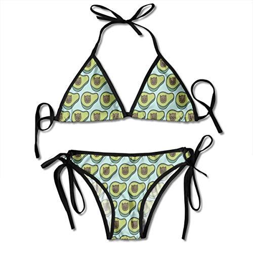 384fad739 Avogato in Blue Brick Women's Halter Bottoms Sexy Bikini Suits Sport Swimsuit  Swimwear