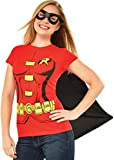 Rubie's Official Ladies Supergirl T-Shirt Set Fancy Dress Costume