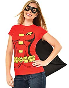 Rubie's Official Ladies Robin T-Shirt Set, Adult Costume - Small