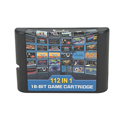 dodoing 112 in 1 Game Cartridge 16 Bit Game Card für Sega Mega Drive MD für Megadrive für Genesis Konsole 1 x 112 in 1 Game Card