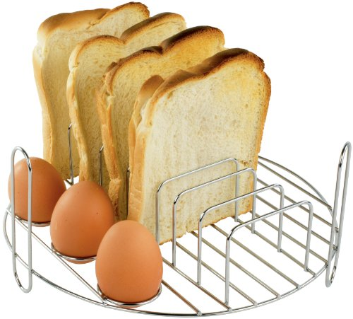 Andrew James Breakfast Rack for Halogen Oven 10-12 Litre Models | Stainless Steel Accessories | Cooks Toast Eggs Bacon