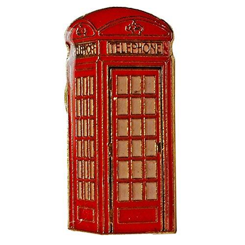 Revers Pin - Rotes Abzeichen / Anstecknadel / Metall und Emaille / Britische Andenken aus England Großbritannien ()