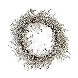 """Adventskranz Weihnachtskranz """"Snowglitter"""" mit Kristallen Perlen Spiegeln verziert ca. 50 cm Ø"""