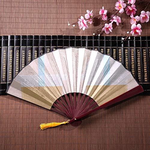 WYYWCY Faltender japanischer Fan Netter Boba-Grüntee-Drink mit Bambusrahmen-Quastenanhänger und Stoffbeutel Papierhandfächer Handfächer für Frauen Bunte Faltfächer