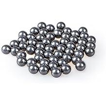 Bola de acero - TOOGOO(R) 100pzs Bola de rodamiento de acero de tono de plata de reemplazo de bicicletas 6mm diametro