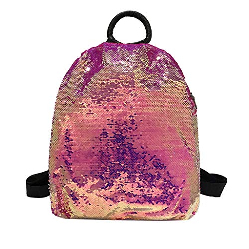 LSTC Tasche Mode Damen Pailletten große kapazität Rucksack Farbe ändern Wilden Rucksack umhängetasche umhängetasche umhängetasche lässig Reise diagonal Paket multifunktions Taschen Hot Pink -
