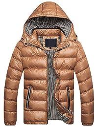 ChallengE Giacca Giubbotto Uomo Invernale Eleganti Giacche e Cappotti  Cappotto A Maniche Lunghe da Moto Parka Giubbini Pullover Top… aa7f48efca3