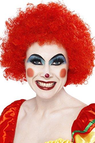 Smiffys, Unisex Verrückter Clown Perücke, One Size, Rot, 42089 (Rote Clown Perücke Für Erwachsene)