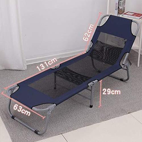ZAQXSW Tragbare Military Folding Camping Bett Kinderbett + Free Aufbewahrungstasche - 4 Farben (Color : Blue)