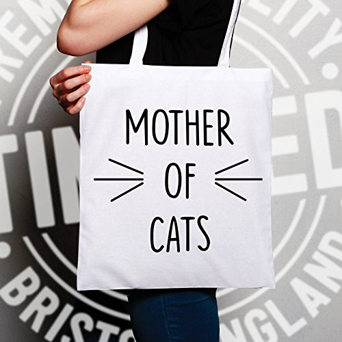 Mother Of Cats divertente sveglia Slogan Parodia Cat Proprietario Animal Pet Sacchetto Di Tote Natural