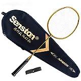 Senston N80 Graphite Unique de Haute qualité Raquette de Badminton, en Fibre de Carbone Raquette de Badminton, y Compris Badminton Sac