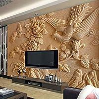 NMW - Mural de Papel Pintado para Sala de Estar, diseño de fénix y Flores, Ver Imagen, 1 ㎡