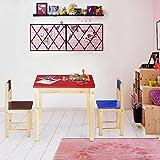 iKayaa Kindersitzgruppe Kindertischgruppe Kindersitzgruppe Kindertisch mit 2 Stühlen aus Holz