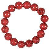 Les Plaisirs de Stella Bracelet Fantaisie Elastique - Perles Rocaille 1 cm - Rouge