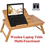 #3: Trendy Wooden Laptop Table | Lapdesk multipurpose foldable