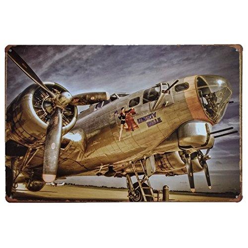 MARQUISE & LOREAN Placas Decorativas Metálicas Aviones