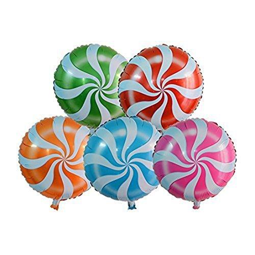 herzii rund Candy Lollipop Camouflage Luftballons für Hochzeit Geburtstag Party, 10 Stück