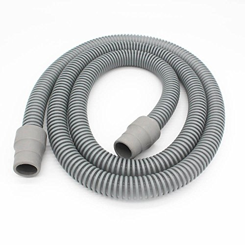Tubo per dispositivo di ventilazione notturna CPAP, grigio, 1,8 m, 22 mm di diametro, confezione da 2 pezzo