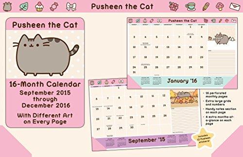 Pusheen the Cat 2015-2016 16-Month Desk Pad Calendar: September 2015 through December 2016 (Desktop-kalender 2015)
