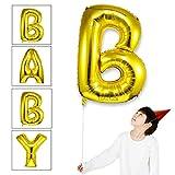 Takefuns 40 Zoll Gold Alphabet B Ballon Geburtstagsfeier Dekorationen Folie Mylar Helium Buchstaben Ballons