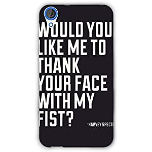 EYP SUITS Quotes Back Cover Case for HTC Desire 820Q