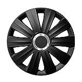 14 Zoll Radzierblenden VIPER BLACK (Schwarz mit Chromring). Radkappen passend für fast alle OPEL wie z.B. Corsa B