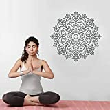 Yoga Indù Mandala Buddha Vinile Wall Sticker Decorazione Camera da Letto Decorazione Domestica Lotus Home Interior Design 30cmx30cm