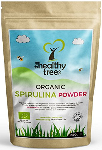 Organic-Spirulina-Powder-High-in-Calcium-Magnesium-Protein-Vitamin-B12-Iron-Pure-Spirulina-by-TheHealthyTree-Company