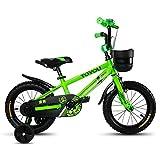 Bici per bambini, 12/14/16/18 pollice bambina in bicicletta, carro per bambini bambino 3-10 anni ( Colore : Verde , dimensioni : 93cm )