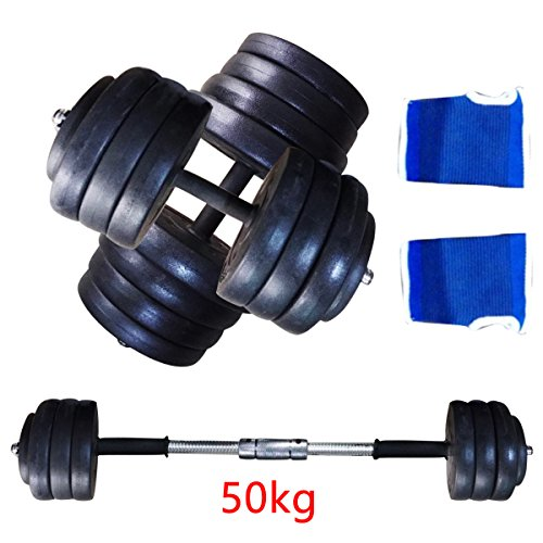 AllRight Dumbbell Sets Bar Weights Gym Fitness Exercise Weight Set,Workout Equipment 50kg