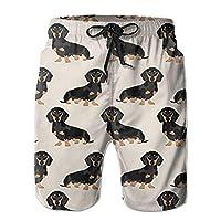 tyui7 New Wiener Dog Fabric Doxie Dachshund Weiner Dog Pet Dogs Summer Suit Men
