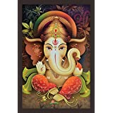 Mad Masters Lord Ganesha 1 Piece Wooden Framed Painting |Wall Art | Home Décor | Painting Art | Unique Design | Attractive Frames