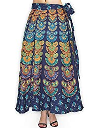 Fabcolors Women's Cotton Printed Wrap Around Full Length Skirt For Casual Wear, Party Wear And Evening Party (... - B077HV8QN6