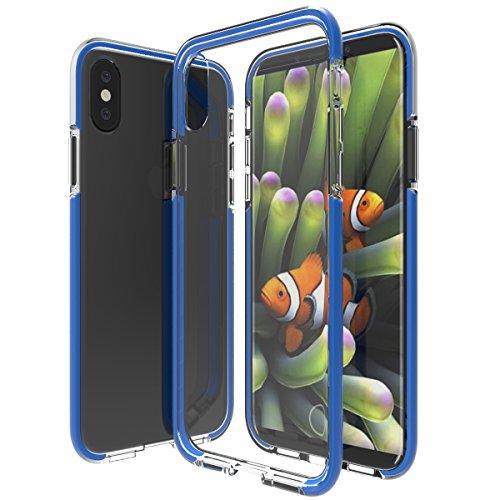 iphone 8 plus Hülle, KuGi Soft Silikon TPU Transparent Hülle Spezial TPE Anti-Drop-Widerstand Crash-Schutz für Apple iphone 8 plus smartphone(Grün) Blau