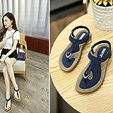 ❤️ Women Sandals, Xinantime Clearance Sale Fashion Bohe Large Size Beach Shoes Roman Sandals Ladies Flip Flops T-Bar Sandals Flat Sandals (39, Blue)