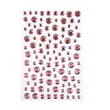 6,8, 10mm - Grand adhésif strass à coller sur strass gemmes pierre précieuse Post-it perles - Rose clair
