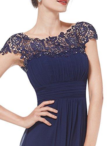 Ever-Pretty - Robe - Taille empire - Femme Bleu