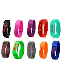 Styllent - Wristwatch With LED Display Suitable For Men, Women, Kids. (Set Of 10) Fashion Wrist Watch Specially...