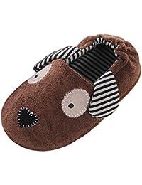 KVbaby Zapatillas de Estar Por Casa Unisex Niños Lindo Suave Pantuflas Invierno
