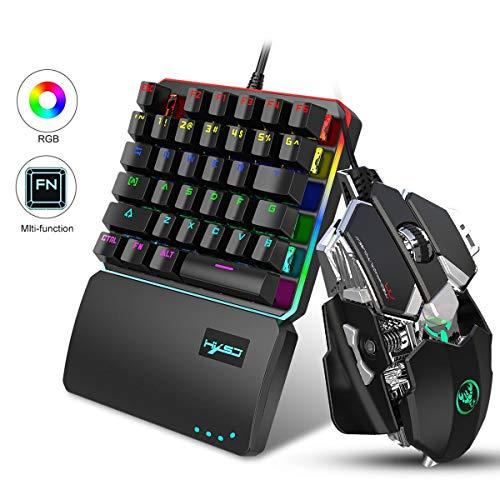 FOONEE Teclado Gaming Ratón PS4 Una Sola Mano Ergonomica