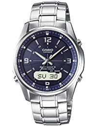 Casio Wave Ceptor Herrenuhr Analog/Digital Quarz mit Massives Edelstahlarmband – LCW-M100DSE-2AER