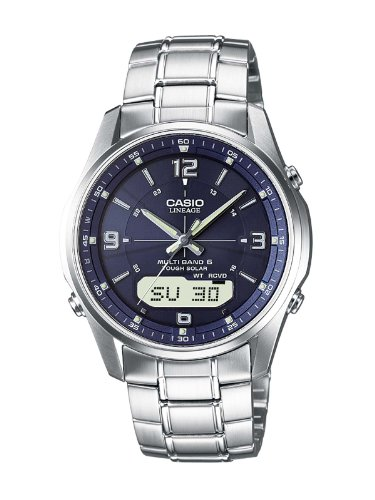 Casio Wave Ceptor – Herren-Armbanduhr mit Analog/Digital-Display und Massives Edelstahlarmband – LCW-M100DSE-2AER