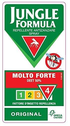 51fhouxp1OL - Jungle Formula Repellente Antizanzare Spray Molto Forte, 75 ml