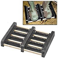 Top Home Solutions Heavy Duty Boot Scraper Mat Brush Mud Outdoor Trainer Shoe Cleaner Doorstep New