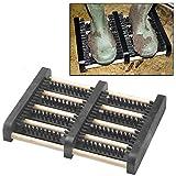 Top Home Solutions Heavy Duty Boot Scraper Mat Brush Mud Outdoor Trainer Shoe