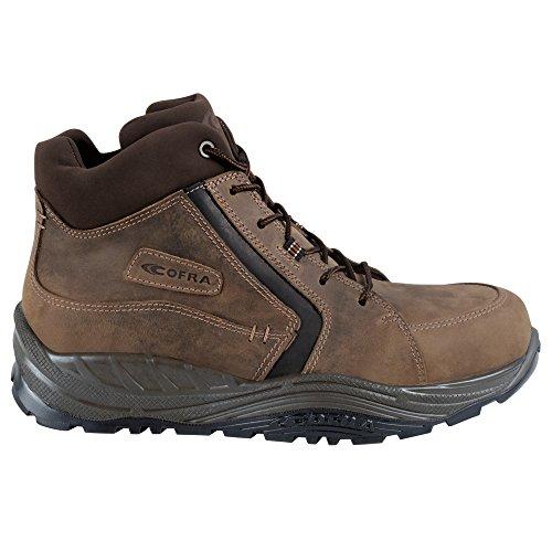 """Cofra S3""""ESALEN Maxi Comfort Series imperméable avec capuchon en plastique Bottes de travail Chaussures de sécurité anti-perforation Protection et semelle souple en cuir nubuck Marron Marron"""