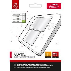 Speedlink Glance Bildschirmschutzfolie für den Nintendo 2DS (schützt das Display, Mikrofasertuch und Rakel)